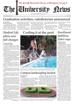 The University News (Irving, Tex.), Vol. 31, No. 24, Ed. 1 Wednesday, May 8, 2002