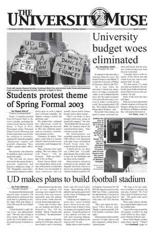 Primary view of object titled 'The University News (Irving, Tex.), Vol. 32, No. 19, Ed. 1 Wednesday, April 2, 2003'.
