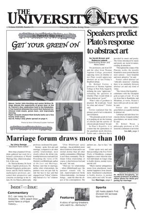 Primary view of object titled 'The University News (Irving, Tex.), Vol. 33, No. 19, Ed. 1 Wednesday, March 24, 2004'.