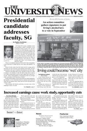 Primary view of object titled 'The University News (Irving, Tex.), Vol. 33, No. 20, Ed. 1 Wednesday, March 31, 2004'.
