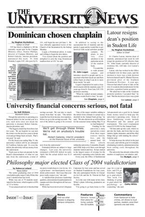 Primary view of object titled 'The University News (Irving, Tex.), Vol. 33, No. 24, Ed. 1 Wednesday, May 5, 2004'.