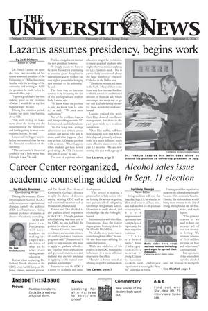 Primary view of object titled 'The University News (Irving, Tex.), Vol. 34, No. 1, Ed. 1 Wednesday, September 8, 2004'.