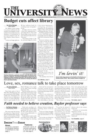 Primary view of object titled 'The University News (Irving, Tex.), Vol. 34, No. 9, Ed. 1 Wednesday, November 10, 2004'.