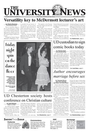 Primary view of object titled 'The University News (Irving, Tex.), Vol. 34, No. 10, Ed. 1 Wednesday, November 17, 2004'.
