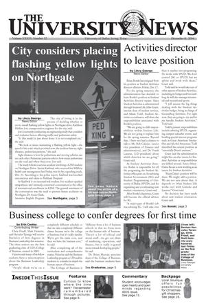 Primary view of object titled 'The University News (Irving, Tex.), Vol. 34, No. 12, Ed. 1 Wednesday, December 8, 2004'.