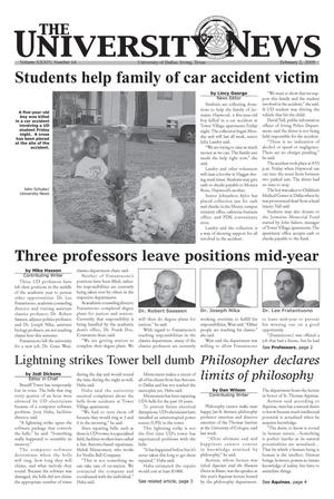 Primary view of object titled 'The University News (Irving, Tex.), Vol. 34, No. 14, Ed. 1 Wednesday, February 2, 2005'.