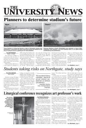 Primary view of object titled 'The University News (Irving, Tex.), Vol. 34, No. 15, Ed. 1 Wednesday, February 9, 2005'.