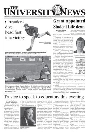 Primary view of object titled 'The University News (Irving, Tex.), Vol. 34, No. 16, Ed. 1 Wednesday, February 16, 2005'.