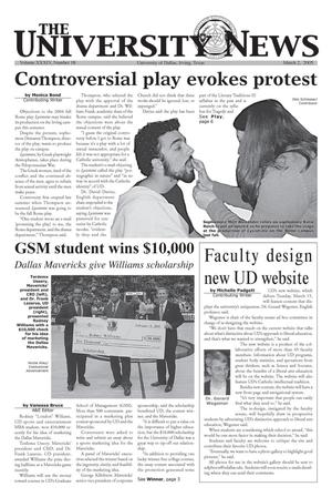 Primary view of object titled 'The University News (Irving, Tex.), Vol. 34, No. 18, Ed. 1 Wednesday, March 2, 2005'.