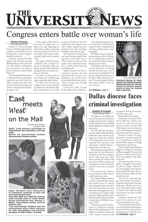 The University News (Irving, Tex.), Vol. 34, No. 19, Ed. 1 Wednesday, March 23, 2005