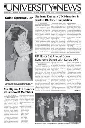 The University News (Irving, Tex.), Vol. 35, No. 24, Ed. 1 Wednesday, May 3, 2006