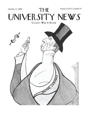 Primary view of object titled 'The University News (Irving, Tex.), Vol. 36, No. 4, Ed. 1 Wednesday, October 11, 2006'.