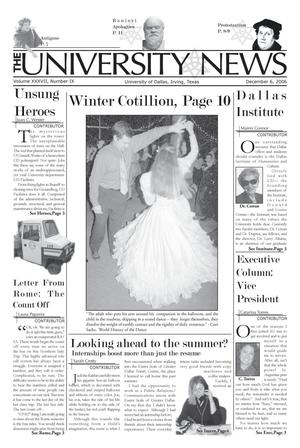 Primary view of object titled 'The University News (Irving, Tex.), Vol. 37, No. 10, Ed. 1 Wednesday, December 6, 2006'.