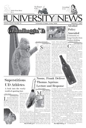 Primary view of object titled 'The University News (Irving, Tex.), Vol. 37, No. 11, Ed. 1 Wednesday, February 7, 2007'.