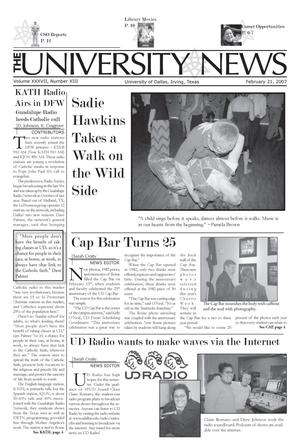 Primary view of object titled 'The University News (Irving, Tex.), Vol. 37, No. 13, Ed. 1 Wednesday, February 21, 2007'.