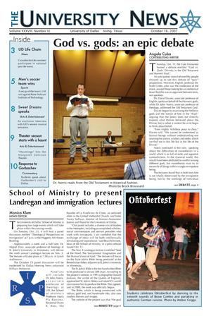 The University News (Irving, Tex.), Vol. 38, No. 6, Ed. 1 Tuesday, October 16, 2007
