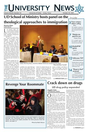 The University News (Irving, Tex.), Vol. 38, No. 7, Ed. 1 Tuesday, October 30, 2007
