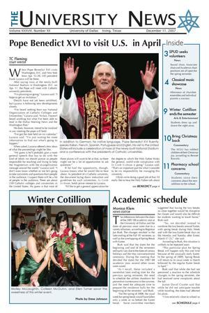 The University News (Irving, Tex.), Vol. 38, No. 12, Ed. 1 Tuesday, December 11, 2007
