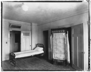 Primary view of object titled 'Kilian Hall bedroom with Murphy bed'.