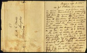 Primary view of object titled '[Letter of R. Mills]'.