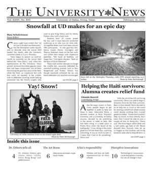 The University News (Irving, Tex.), Vol. 35, No. 16, Ed. 1 Tuesday, February 16, 2010