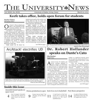 Primary view of object titled 'The University News (Irving, Tex.), Vol. 35, No. 18, Ed. 1 Tuesday, March 23, 2010'.