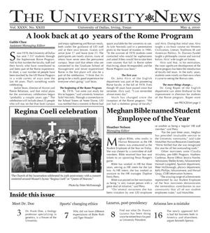 The University News (Irving, Tex.), Vol. 35, No. 23, Ed. 1 Tuesday, May 4, 2010