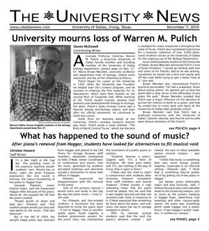 Primary view of object titled 'The University News (Irving, Tex.), Vol. 36, No. 12, Ed. 1 Tuesday, December 7, 2010'.