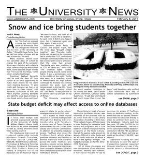 The University News (Irving, Tex.), Vol. 36, No. 14, Ed. 1 Tuesday, February 8, 2011