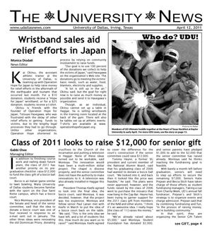 Primary view of object titled 'The University News (Irving, Tex.), Vol. 36, No. 21, Ed. 1 Tuesday, April 12, 2011'.