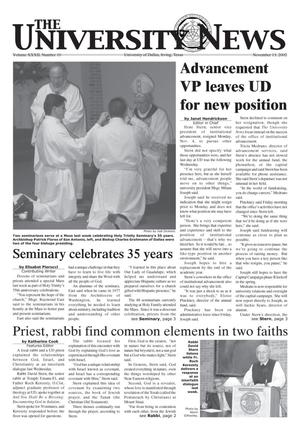 Primary view of object titled 'The University News (Irving, Tex.), Vol. 32, No. 10, Ed. 1 Wednesday, November 13, 2002'.