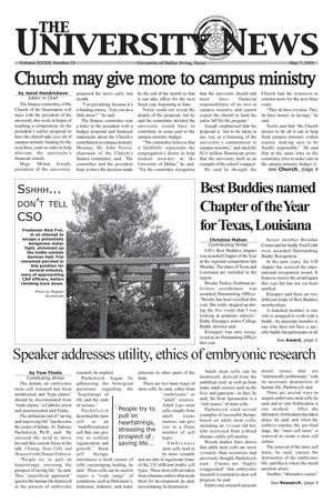 Primary view of object titled 'The University News (Irving, Tex.), Vol. 32, No. 23, Ed. 1 Wednesday, May 7, 2003'.