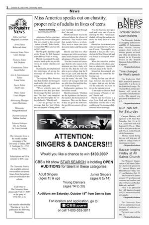 The University News (Irving, Tex.), Vol. 33, No. 6, Ed. 1 Wednesday, October 8, 2003