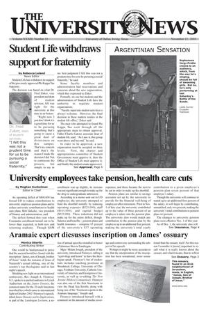 Primary view of object titled 'The University News (Irving, Tex.), Vol. 33, No. 10, Ed. 1 Wednesday, November 12, 2003'.