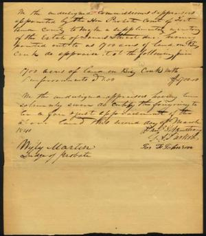 [Appraisal of estate of James Stuart signed by Wyly Martin]