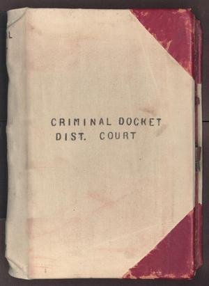 [Criminal Docket, District Court, Cooke County, 1878-1887]