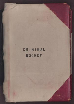 Primary view of object titled '[Criminal Docket District Court, Cooke County, 1887-1897]'.