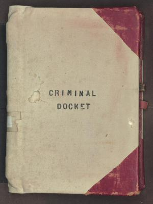 Primary view of object titled '[Criminal Docket District Court, Cooke County , 1874-1877]'.