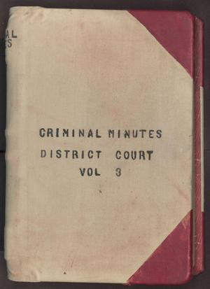 [Criminal Minutes, County Court, Cooke County, 1899-1904]
