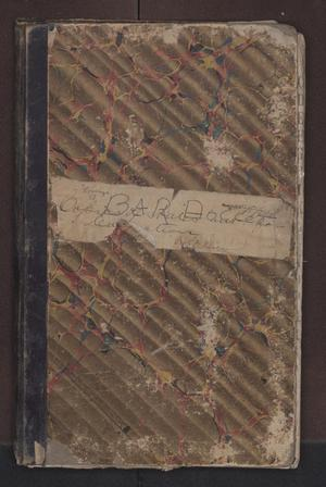 Primary view of object titled '[Bar Docket Criminal District Court, Cooke County, 1873-1883]'.