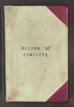 Primary view of object titled '[Convict Labor Record, Cooke County, 1878-1891]'.