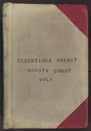 [Executions Docket, County Court, Cooke County, 1876-1927]