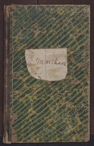 Primary view of object titled '[Sherriff's Fee Book, Cooke County, 1873-1874]'.