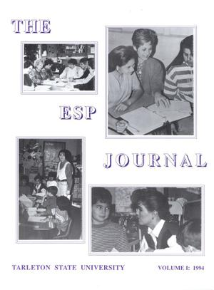 Primary view of object titled 'Journal of the Effective Schools Project, Volume 1, 1994'.