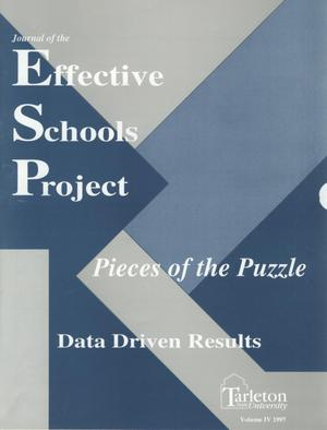Primary view of object titled 'Journal of the Effective Schools Project, Volume 4, 1997'.