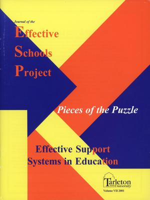 Primary view of object titled 'Journal of the Effective Schools Project, Volume 7, 2001'.