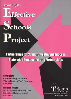 Primary view of object titled 'Journal of the Effective Schools Project, Volume 8, 2002'.