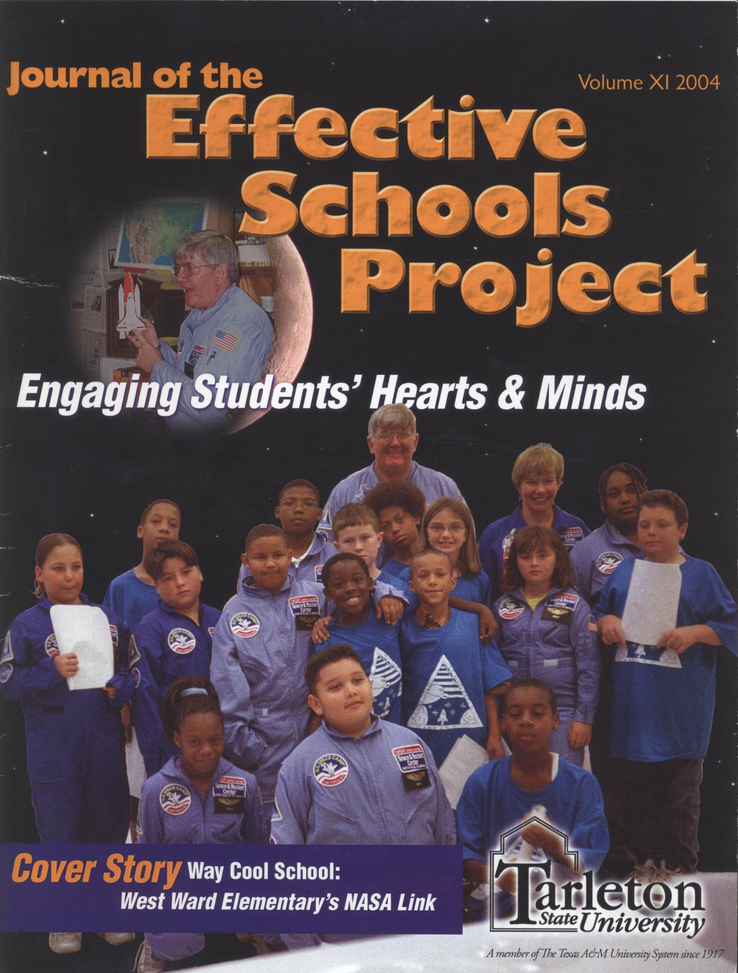 Journal of the Effective Schools Project, Volume 11, 2004                                                                                                      Front Cover