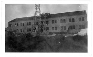 Primary view of object titled 'Kilian Hall under construction'.