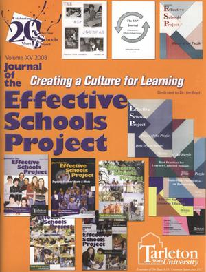 Primary view of object titled 'Journal of the Effective Schools Project, Volume 15, 2008'.